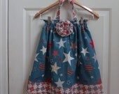 4t 4th of July Halter Dress READY TO SHIP