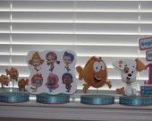 Bubble Guppies 4pc Birthday Party Custom Centerpieces