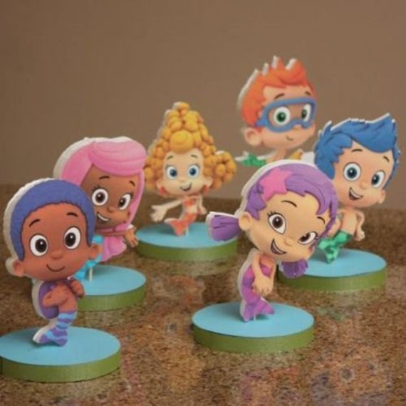Items similar to bubble guppies birthday party centerpieces on etsy - Bubble guppies center pieces ...