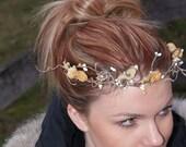Nature wedding..Rustic...Redneck Wedding...Flower girl... Bridal Circlet... Wreath... halo