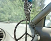 Peace Rearview Mirror Charm