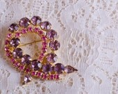 Purple Pink Brooch Ribbon