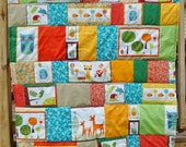 ITEM IS RESERVED***Woodland Animals Quilt Throw Featuring Critter Community Fabric by Suzy Ultman