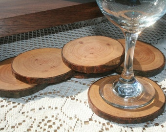 Wood Coasters-Stunning set of 4 Round Coasters-Michigan Reclaimed Coasters Perfect for Employee Christmas Gift