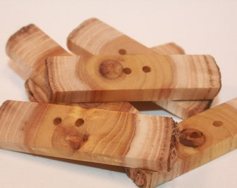 Wood Buttons Michigan Mulberry Toggle