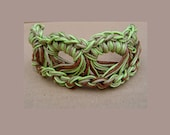 Macrame bracelet - crochet bracelet - earth tones - fibre jewelry - boho