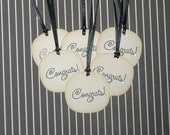 Vintage Inspired Congratulations Tag with Rhinestone