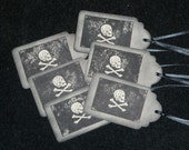 Vintage Pirate Party Tags