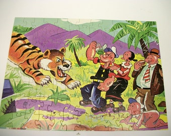 "Vintage Popeye Picture Puzzle ""Hold That Tiger"" By Jamar"