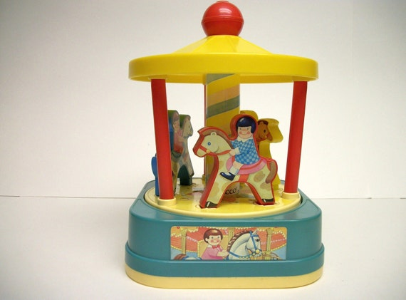 Vintage Chicco Merry-Go-Round Made In Italy