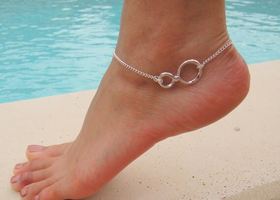 Silver Infinity Anklet-
