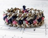 Double braided chain bracelet