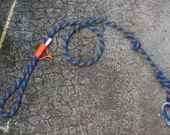 Blue/Orange - Upcycled Climbing Rope Dog Leash