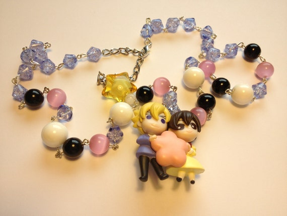 Haruhi and Tamaki (Ouran High School Host Club) beaded necklace