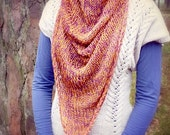 Multicolor Triangle Knit Scarf / Cotton Scarf / Women Clothing / Summer Scarf / Summer Wear