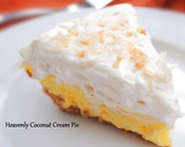 Creamy Coconut Cream Pie Recipe - Coconut Grove,  classic diner food, delicious, creamy, pie, whipped goodness.