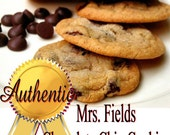 Mrs. Fields Chocolate Chip Cookie Recipe, Yummy,  classic diner food, delicious, craving.