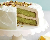 Best's Capitol Pistachio and Cream Cake Recipe, nut cake, so good creamy fluffy frosting.