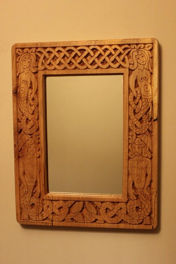 carved celtic mirror