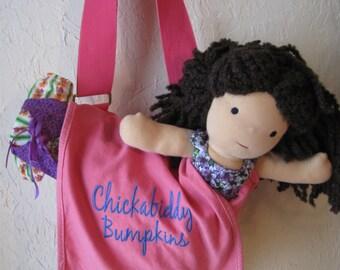 Pink Shoulder Bag with Inside Zipper Pocket - Overnight Bag, Everday Backpack, or Laptop Bag