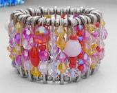 Safety Pin Bracelet - Summer Sunset