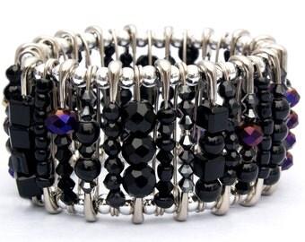 Safety Pin Bracelet - Onyx Black