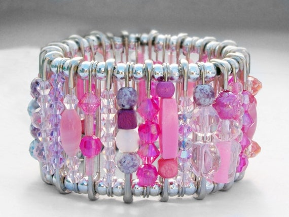 Safety Pin Bracelet - Unleash Your Girly Side Pink