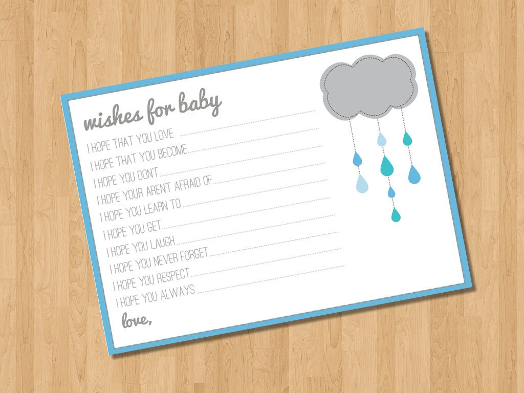 instant download wishes for baby printable baby shower