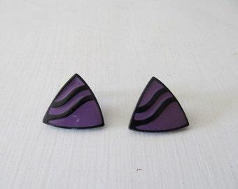 Loop/Earring purple triangles