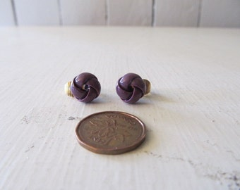 Small purple earrings