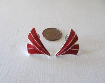 Vintage red illuminated earrings