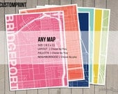 "Custom Map Print 8.5"" x 11"""