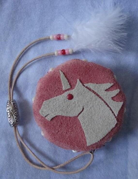 Pink and White Unicorn Rattle