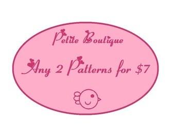Baby shoe pattern - 2 Patterns Combo