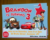 Toy Story and Cars Birthday Invitations / Digital File / You Print
