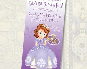 Disney Princess Sofia Birthday Invitations / Digital File / You Print