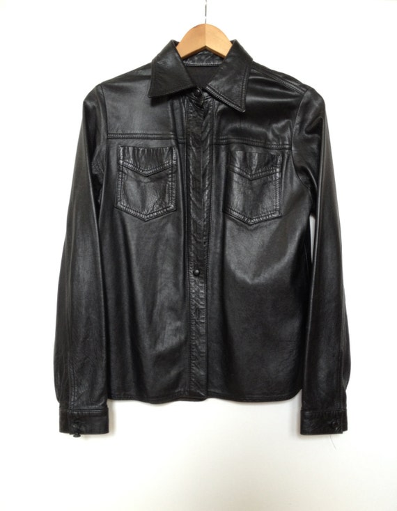 Reserved for (cherylcorpus) Only. Vintage Anna Sui Leather button down.