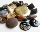 Vintage Buttons - haberdashery some unusual uncommon assorted sewing notions crafts srcapbook jewelry making bulk destash -L134