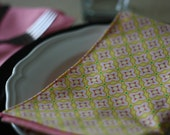 FREE US SHIPPING Reversible Fabric Napkins to be washed and used again and again. Set of 4.  Modern designs