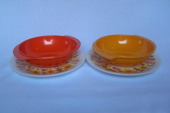 RESERVED FOR BRIDGETK 1960/70s melamine breakfast set for two