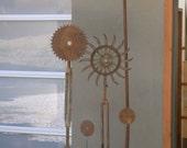 Garden Sculpture. Industrial flower