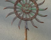 5 ft Industrial Flower Garden Sculpture