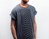 Black Optical Tower on Grey Shirt