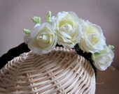 White Rose Headpiece