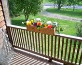 Decorative Window Flower Box, Wedding Center Piece, Country Center Piece,Rustic Flower Box,  Deck Flower Pot,  Indoor Flower Box,