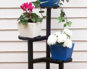 Plant Stand, Wood Plant Stand,Flower Pot Stand, Plant Stand for Indoor or Outdoor use, Deck Flower Plant Stand, Patio Flower Plant Stand,