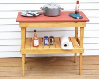 Outdoor Party Table,Wood B.B.Q. Deck Table,BBQ Table,Wood  Patio Table,Deck Table,Patio Party Table  Patio BBQ Table,  Party Wood Table,