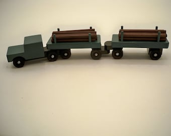 Wood Toy Truck, Classic Wood Truck, Wood Toy Car, Classic Wood car, Wood Tractor Trailer, Wood Diesel Truck
