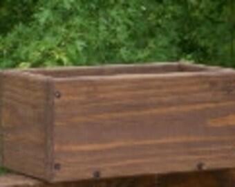 Flower Box Wood,  Wedding  Center  Piece ,  Country Table Centerpiece, Window Flower Box, Indoor Outdoor Flower Box