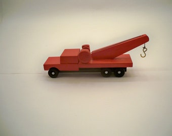 Wood Tow Truck, Toy Tow Truck, Wood Toy,  Kids Toy, Kids Wood Toy, Toy Truck Wooden Toy Truck